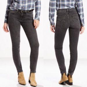 Levi's 811 Curvy Skinny Gray Stretch Jeans Size 25